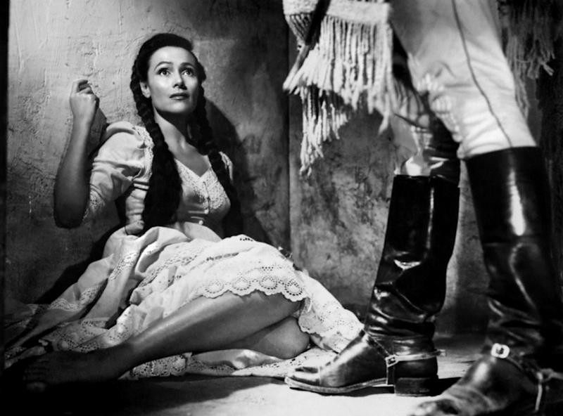 """Actress Dolores Del Rio in a scene from the movie """"The Fugitive"""" (Photo by Donaldson Collection/Getty Images)"""