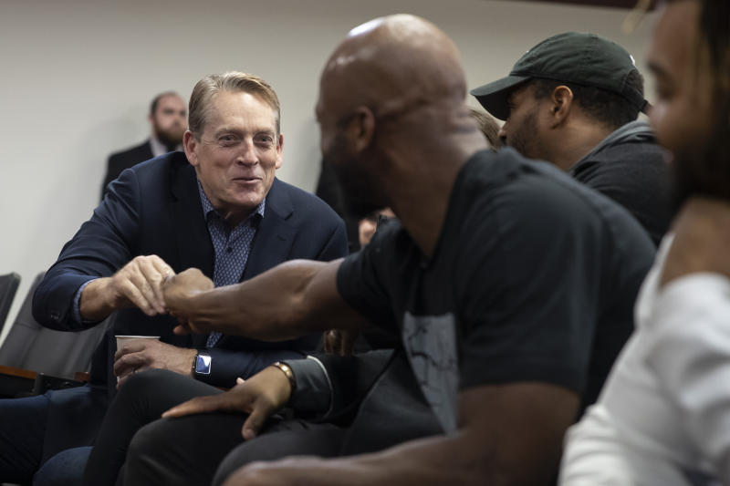Washington defensive coordinator Jack Del Rio has been sharing his opinions this offseason. (AP Photo/Alex Brandon)