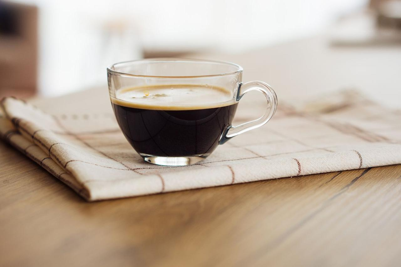 """<p>""""Two cups of coffee can cut post-workout muscle pain by up to 48%,"""" says Tony Carvajal, a certified CrossFit trainer with <a href=""""http://www.rspnutrition.com/"""" target=""""_blank"""">RSP Nutrition</a>. Antioxidants in coffee may also dampen inflammation, reducing the risk of disorders related to it, like cardiovascular disease. """"Add flavored MCT oil or oak milk to give you the sweet taste and curb cravings,"""" he says.</p>"""