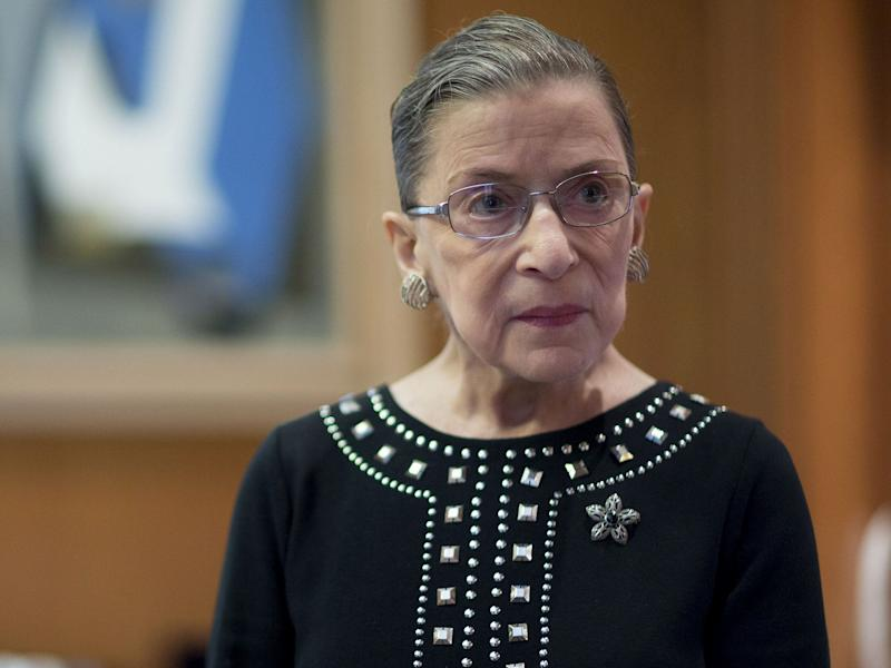 Justice Ginsburg Back on Supreme Court Bench After Sick Day