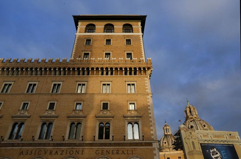 FILE PHOTO: The headquarters of Italy's biggest insurer Assicurazioni Generali is seen in Rome