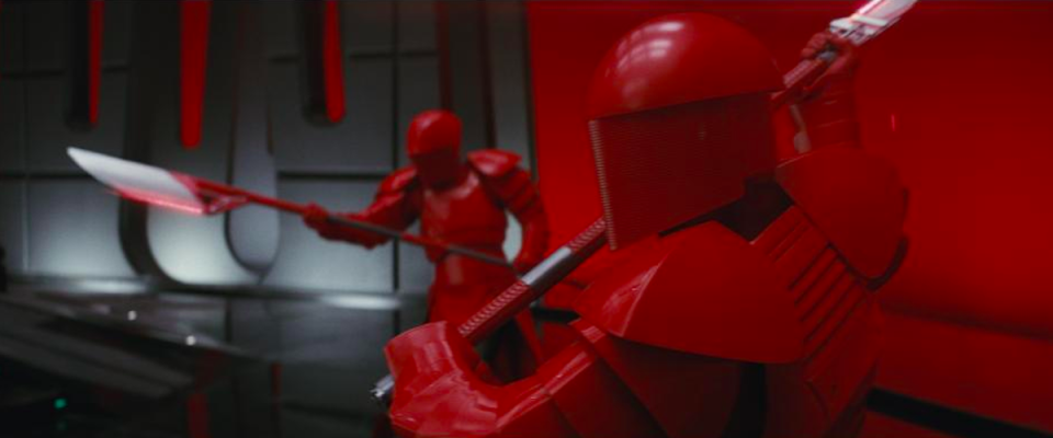 <p><em>The Last Jedi</em> will reveal more about the mysterious Supreme Leader Snoke (Andy Serkis), as well as introducing his personal bodyguards, the scarlet-armored Paetorian Guard.<br>(Credit: Lucasfilm) </p>