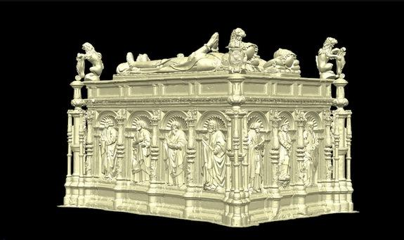 Researchers created a 3D scan of the 16th century tomb of Thomas Howard, 3rd Duke of Norfolk.