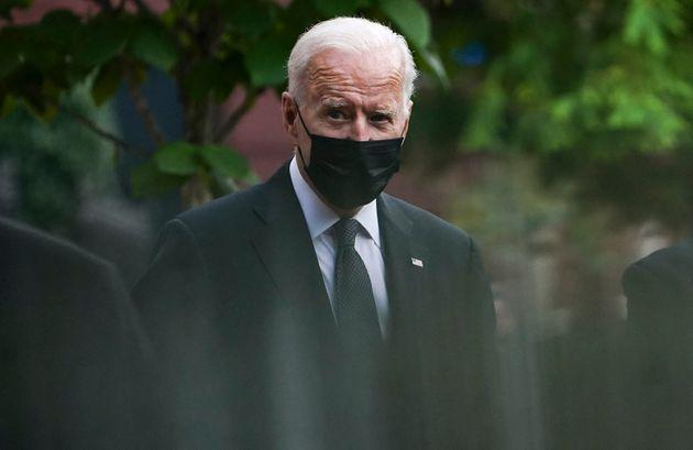 US President Joe Biden leaves the Holy Trinity church in the Georgetown neighborhood of Washington, DC after attending mass there on August 29, 2021. (Photo by ANDREW CABALLERO-REYNOLDS / AFP) (Photo by ANDREW CABALLERO-REYNOLDS/AFP via Getty Images) (Photo: ANDREW CABALLERO-REYNOLDS via Getty Images)