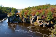 """<p><strong>Where to go: </strong>The St. Croix River on the Minnesota border is dotted with state parks plus antique and gift shops, but you can also view the scenery by boat if you rather put your feet up. <br></p><p><strong>When to go:</strong> Mid-October </p><p><a class=""""link rapid-noclick-resp"""" href=""""https://go.redirectingat.com?id=74968X1596630&url=https%3A%2F%2Fwww.tripadvisor.com%2FHotels-g28972-Wisconsin-Hotels.html&sref=https%3A%2F%2Fwww.redbookmag.com%2Flife%2Fg34045856%2Ffall-colors%2F"""" rel=""""nofollow noopener"""" target=""""_blank"""" data-ylk=""""slk:FIND A HOTEL"""">FIND A HOTEL</a></p><p><strong>RELATED: <a href=""""https://www.goodhousekeeping.com/life/travel/g4527/weirdest-town-names-in-america/"""" rel=""""nofollow noopener"""" target=""""_blank"""" data-ylk=""""slk:The Weirdest Town Names in Every State"""" class=""""link rapid-noclick-resp"""">The Weirdest Town Names in Every State</a></strong> </p>"""