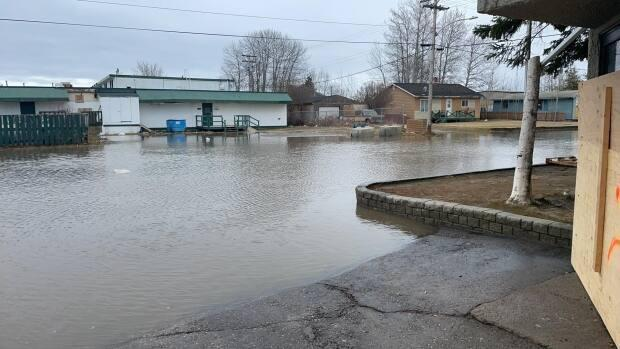 Laurie Ozmun Nadia uploaded this photo of Fort Simpson to Facebook at about 11 a.m. Friday. Water levels are said to be rising in the village again.
