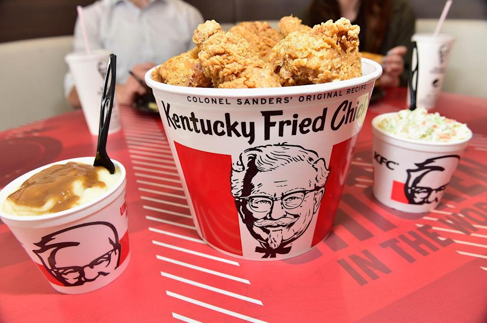 <p>A 23-year-old student accidentally found the glitch in the app and swindled thousands of worth of food</p> (Getty Images for KFC)