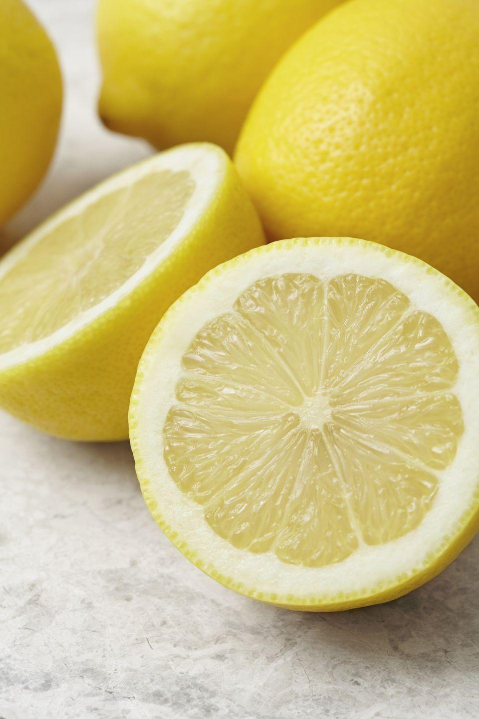 """<p>To fight winter dryness, try a lemon juice and <a href=""""https://www.womansday.com/health-fitness/nutrition/advice/a2617/healthy-cooking-oilsexplained-123271/"""" rel=""""nofollow noopener"""" target=""""_blank"""" data-ylk=""""slk:olive oil"""" class=""""link rapid-noclick-resp"""">olive oil</a> mixture in your hair. """"The acidity in lemon juice helps rid your scalp of any loose, dry flakes of skin, while the olive oil moisturizes the [newly exposed] skin on your head,"""" Cox says.</p><p><strong>To use:</strong> Mix 2 Tbsp fresh lemon juice, 2 Tbsp olive oil, and 2 Tbsp water, and massage into damp scalp. Let mixture sit for 20 minutes, then rinse and shampoo hair. Treatment can be applied every other week.</p><p><strong>What you'll need:</strong> Olive oil ($9, <a href=""""https://www.amazon.com/Pompeian-Classic-Pure-Olive-Ounce/dp/B01E7OFT3C/ref=sr_1_2_sspa?keywords=olive+oil&qid=1566590133&s=grocery&sr=1-2-spons&psc=1&spLa=ZW5jcnlwdGVkUXVhbGlmaWVyPUEyVEQzVFRLNkdTMTFOJmVuY3J5cHRlZElkPUEwNTA1NzMyM1ZVMkk3MUpOUUI5QyZlbmNyeXB0ZWRBZElkPUEwNDU1MTE1MjdIUDJUQVJLS1IzRiZ3aWRnZXROYW1lPXNwX2F0ZiZhY3Rpb249Y2xpY2tSZWRpcmVjdCZkb05vdExvZ0NsaWNrPXRydWU%3D&tag=syn-yahoo-20&ascsubtag=%5Bartid%7C10070.g.2276%5Bsrc%7Cyahoo-us"""" rel=""""nofollow noopener"""" target=""""_blank"""" data-ylk=""""slk:amazon.com"""" class=""""link rapid-noclick-resp"""">amazon.com</a>)</p>"""