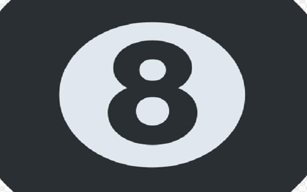 8-Ball emoji on Facebook: What does it mean?  -  Twitter Emoji project / Wikimedia