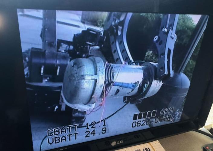 """<div class=""""inline-image__caption""""><p>One of the pipe bombs allegedly planted by Allen.</p></div> <div class=""""inline-image__credit"""">Department of Justice</div>"""