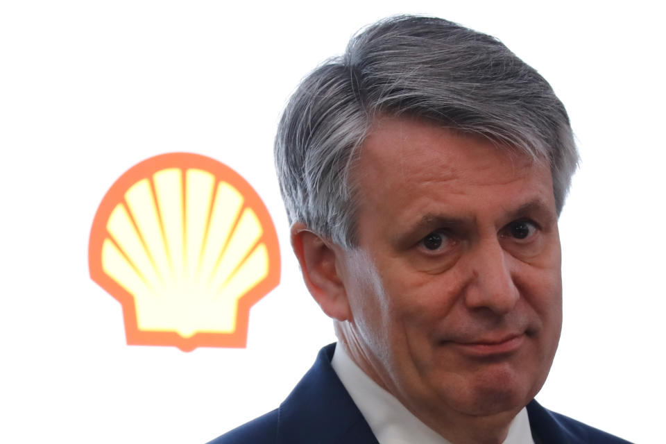 Royal Dutch Shell chief executive Ben van Beurden speaks at a full year results conference in London on January 31, 2019. - Royal Dutch Shell today said that net profit surged 80 percent to $23.4 billion in 2018, thanks to higher oil prices and cost cuts. (Photo by Tolga AKMEN / AFP)        (Photo credit should read TOLGA AKMEN/AFP/Getty Images)