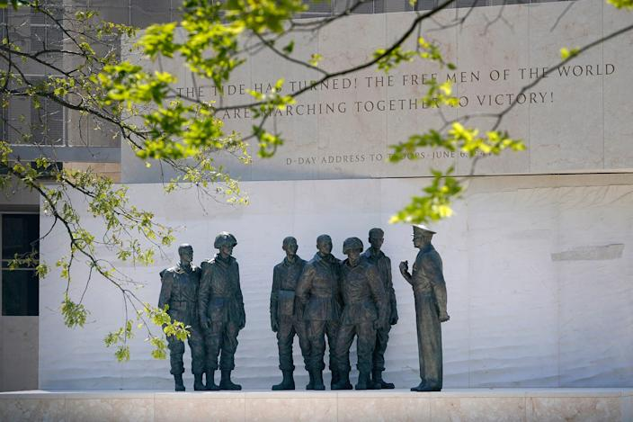 The new Dwight D. Eisenhower Memorial on Sept. 4, 2020, in Washington, D.C.