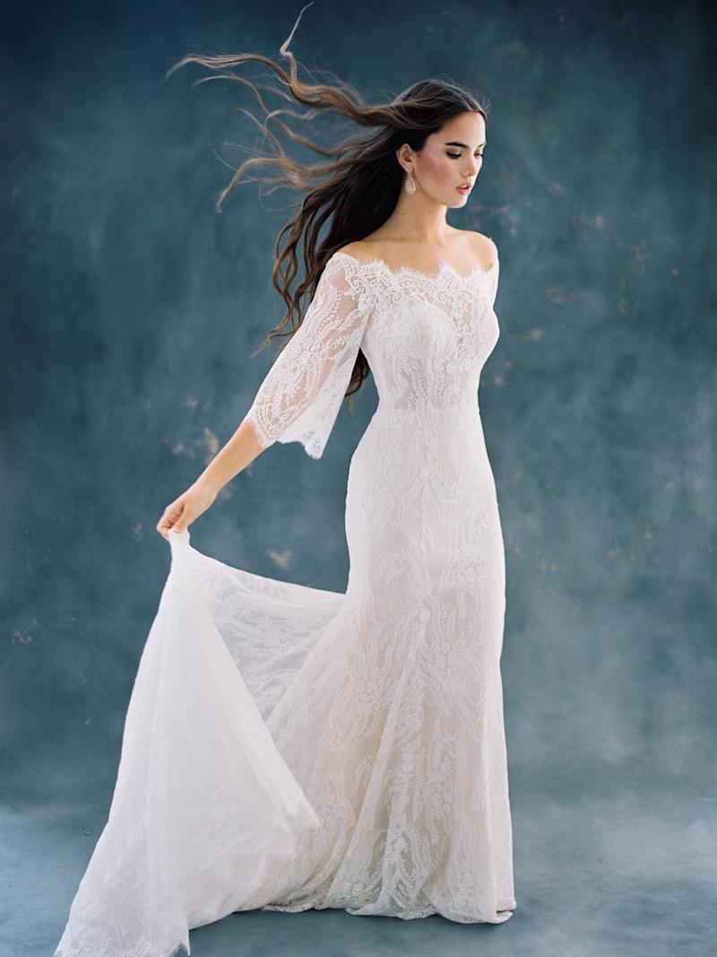55 Trendy Off-The-Shoulder Wedding Dresses With Classic Style
