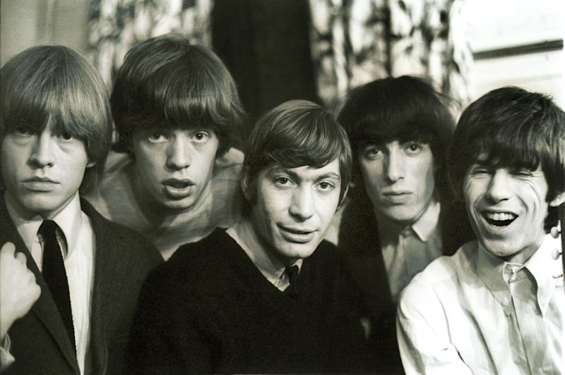 (GERMANY OUT) UK, London, 1969 Rolling Stones 50 years. Photo: From left to right: Brian Jones (1962-69), Mick Jagger, Charlie Watts seit 1963), Bill Wyman (1962-93) and Keith Richards (Photo by Spiegl/ullstein bild via Getty Images)