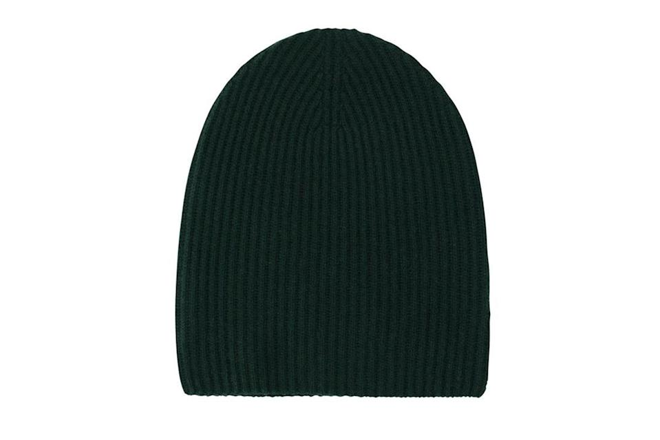 """$75, Naadam. <a href=""""https://naadam.co/collections/mens/products/signature-ribbed-cashmere-beanie?variant=32471416438880"""" rel=""""nofollow noopener"""" target=""""_blank"""" data-ylk=""""slk:Get it now!"""" class=""""link rapid-noclick-resp"""">Get it now!</a>"""