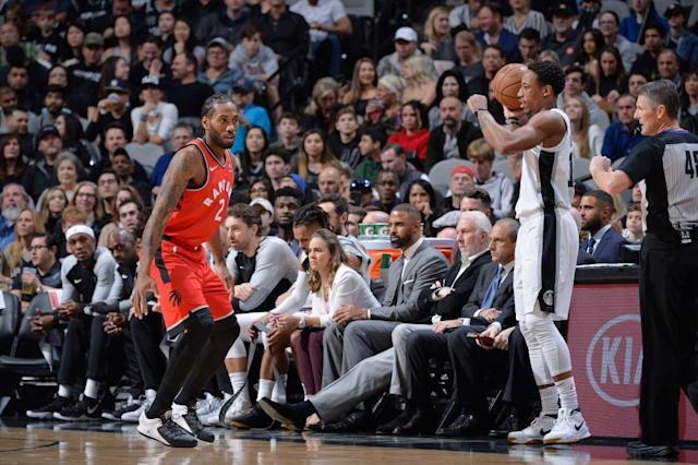 If Kawhi Leonard was hoping for even an ounce of love from the San Antonio crowd in his return, he left more than a little disheartened. (Getty)