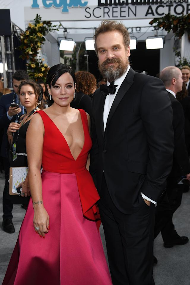 <p>The couple stepped out together for the award show, looking glamorous on the red carpet. David was there as a double nominee, having been nominated for best ensemble in a drama series with his <strong>Stranger Things</strong> castmates, as well as an individual nomination for best male actor in a drama series.</p>