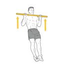 <p>At the top of the movement, pull yourself into the bar so that your chest makes contact. Pinch your shoulder blades together to help nail the final few inches. This muscle group is often neglected, but will make a huge difference to your pull-ups. </p><p><strong>Form Check:</strong> No half reps. Some people go high, but avoid actually pulling themselves into the bar. Finish that rep to reap maximum benefit.</p>