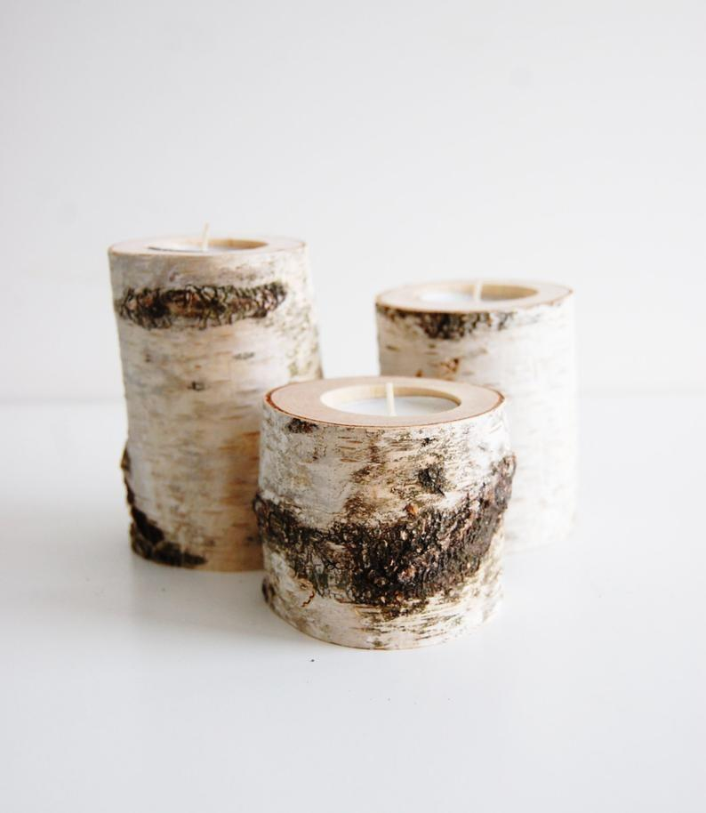 <p>Bring in the natural elements with these gorgeous<span>Tree Branch Candleholders Set Of 3</span> ($13-$17).</p>