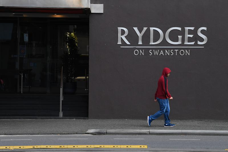 General view of signage of the Rydges on Swanston hotel in Melbourne. Source: AAP