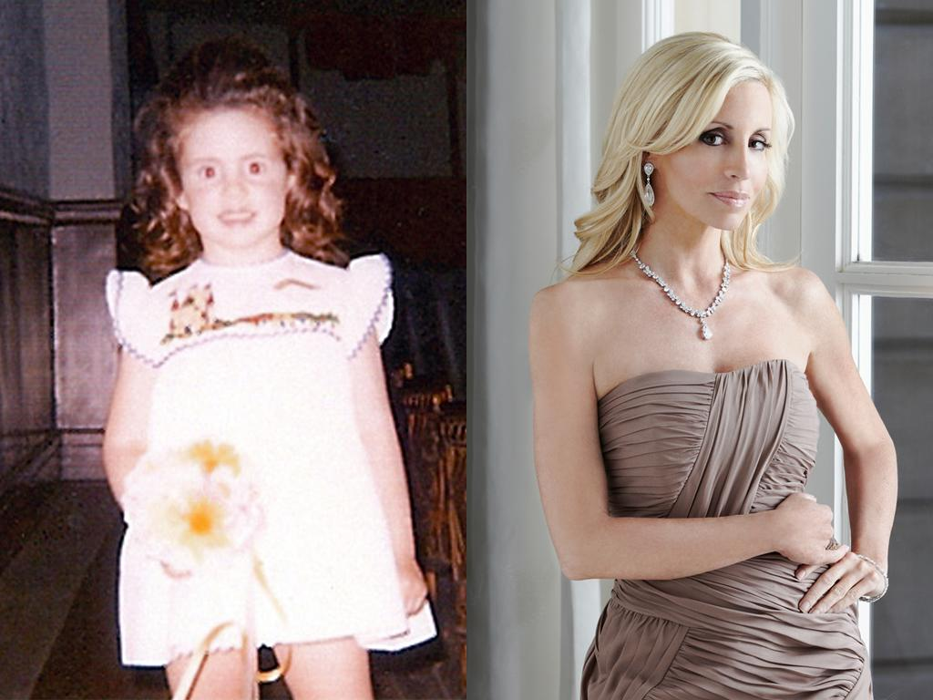 """<b>Camille Grammer (Beverly Hills)</b><br><br>Who knew Camille Grammer wasn't a real blonde? The Beverly Hills hottie was not only a brunette, but a curly one at that, growing up in New Jersey before she married """"Frasier"""" star Kelsey Grammer in 1997. They had two kids before splitting in the middle of the first Beverly Hills season back in 2010.<br><br><a target=""""_blank"""" href=""""http://www.bravotv.com/the-real-housewives-of-beverly-hills/season-1/photos/photo-diaries/before-they-were-housewives-camil"""">More Photos of Camille</a>"""