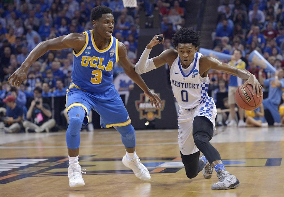 De'Aaron Fox made 13 of 20 shots for 39 points to lead Kentucky past UCLA. (AP)