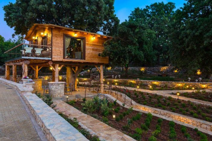 """<p>Built among the branches of an oak tree, this treehouse combines wooden floors with soft brown and grey fabrics, a terrace with a jacuzzi and a spacious, stylish feel. It has one bedroom, and sleeps four people. <em><a rel=""""nofollow"""" href=""""https://www.tripadvisor.co.uk/VacationRentalReview-g1187362-d13340964-Stolidi_mou_secluded_intown_Treehouse-Atsipopoulo_Rethymnon_Rethymnon_Prefecture_Cre.html"""">From £181 per night</a></em></p><p><em></em></p>"""