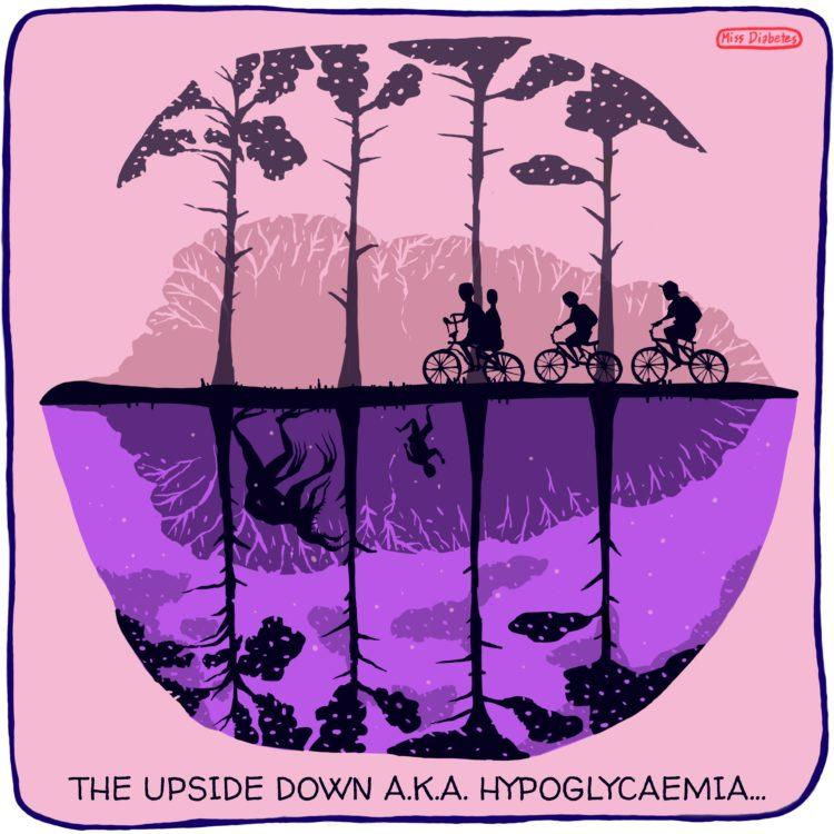 the upside down aka hypoglycemia, drawing of upside down