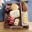 "<p>williams-sonoma.com</p><p><strong>$99.95</strong></p><p><a href=""https://go.redirectingat.com?id=74968X1596630&url=https%3A%2F%2Fwww.williams-sonoma.com%2Fproducts%2Fmarlo-thomas-rectangle-tray&sref=https%3A%2F%2Fwww.townandcountrymag.com%2Fstyle%2Fhome-decor%2Fg36213642%2Fbest-charcuterie-boards%2F"" rel=""nofollow noopener"" target=""_blank"" data-ylk=""slk:Shop Now"" class=""link rapid-noclick-resp"">Shop Now</a></p><p>This cheese tray is the best of both worlds: the oak tray is perfect for heaping cheese and fruits while the ceramic dishes hold crackers neatly. </p>"
