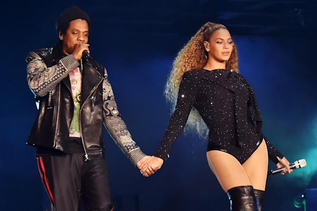 Beyoncé and Jay-Z kicked off their new tour in Cardiff, Wales, Wednesday night. (Photo: Kevin Mazur/Getty Images For Parkwood Entertainment)