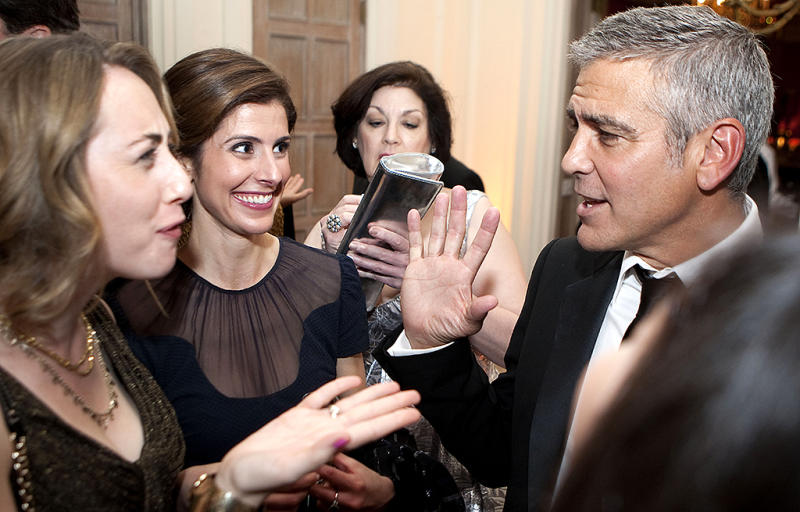 Let's be honest: Nobody was upset to see George Clooney at the WHCD in 2012. (Photo: Joshua Roberts/Bloomberg via Getty Images)