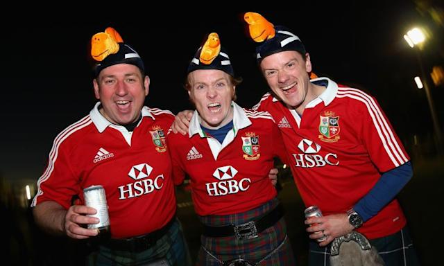 """<span class=""""element-image__caption"""">An unofficial British & Irish Lions fans page responded to the offer on Facebook saying its members were 'overwhelmed with the kindness'.</span> <span class=""""element-image__credit"""">Photograph: Cameron Spencer/Getty Images</span>"""