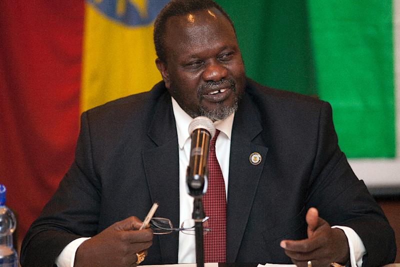 South Sudan rebel leader Riek Machar, a former vice president, signed a power-sharing peace deal on August 17, in line with a deadline to do so (AFP Photo/Zacharias Abubeker)