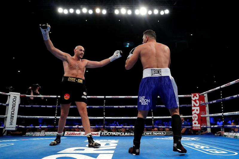 Fury dominated Seferi in his comeback fight (Action Images via Reuters)