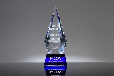 Panasonic's award from FCA North America for Innovation Supplier of the Year
