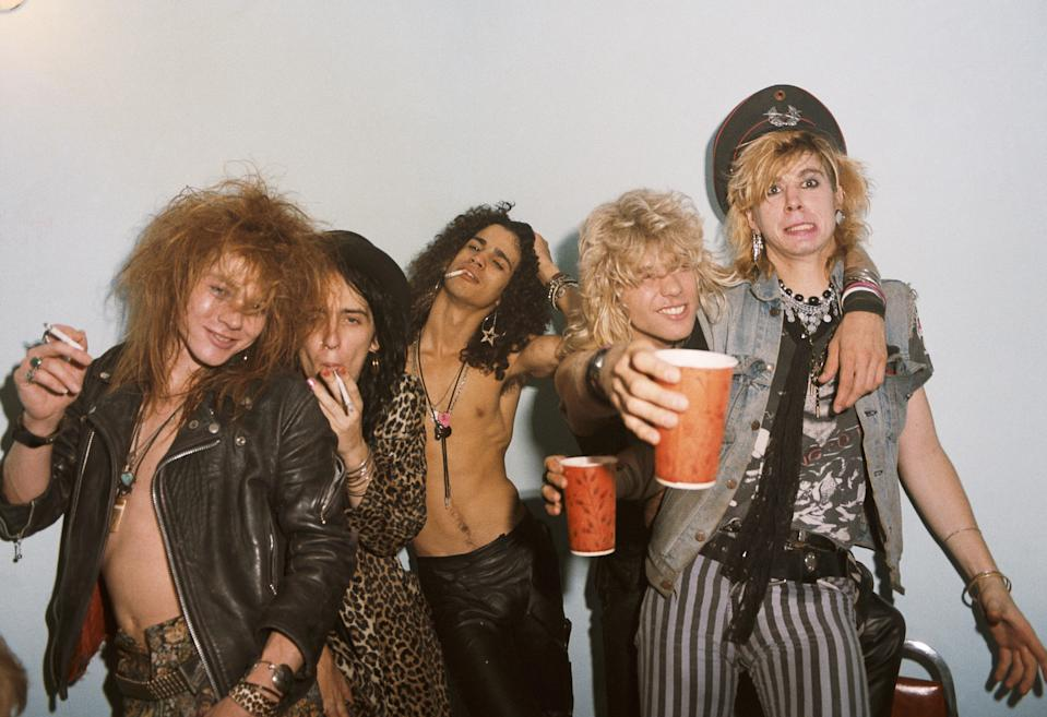 Guns N' Roses in 1985. (Photo: Jack Lue/Michael Ochs Archives/Getty Images)