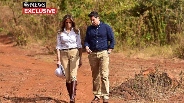 PHOTO: First lady Melania Trump gives an interview to ABC News' Tom Llamas. (Tony Karumba/ABC News)