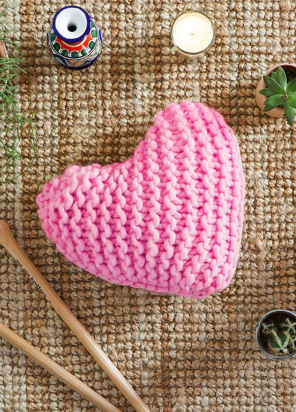"""<p>weareknitters.com</p><p><strong>$49.50</strong></p><p><a href=""""https://www.weareknitters.com/knitting-kit/knitting-levels/easy-level/happy-cushion"""" rel=""""nofollow noopener"""" target=""""_blank"""" data-ylk=""""slk:Shop Now"""" class=""""link rapid-noclick-resp"""">Shop Now</a></p><p>Pass on your love of knitting with this easy kit for beginners.</p>"""