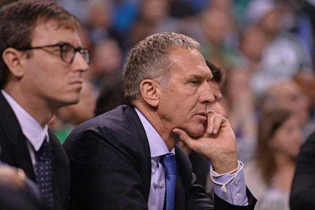 "A decision regarding <a class=""link rapid-noclick-resp"" href=""/nba/teams/phi"" data-ylk=""slk:Philadelphia 76ers"">Philadelphia 76ers</a> president Bryan Colangelo's future with the team is expected soon. (Getty Images)"
