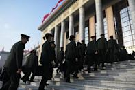 As the economy slows, Beijing has unveiled a military budget increase of 7.5 percent