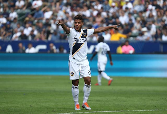 Jonathan dos Santos is playing his best soccer since joining the LA Galaxy two years ago. (Victor Decolongon/Getty)