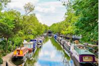 """<p><strong>Looks like: </strong>Amsterdam </p><p>It may still be a while until we can walk along Amsterdam's picturesque canals again, but London's Little Venice offers a pleasant alternative. This tranquil part of the city is characterised by its winding canals that are filled with narrow boats traveling between Paddington and Camden Lock. Cafes, restaurants and bars line the water's edge, offering a holiday-like appeal.</p><p><strong>Stay at:</strong> For the full experience, book a stay on board a canal boat and see London from a different perspective. <a href=""""https://www.airbnb.co.uk/rooms/107051?source_impression_id=p3_1593010296_9NRtWEVpC4s4rDw6&guests=1&adults=1"""" rel=""""nofollow noopener"""" target=""""_blank"""" data-ylk=""""slk:Airbnb"""" class=""""link rapid-noclick-resp"""">Airbnb</a> has a few different options in which to choose from.</p>"""