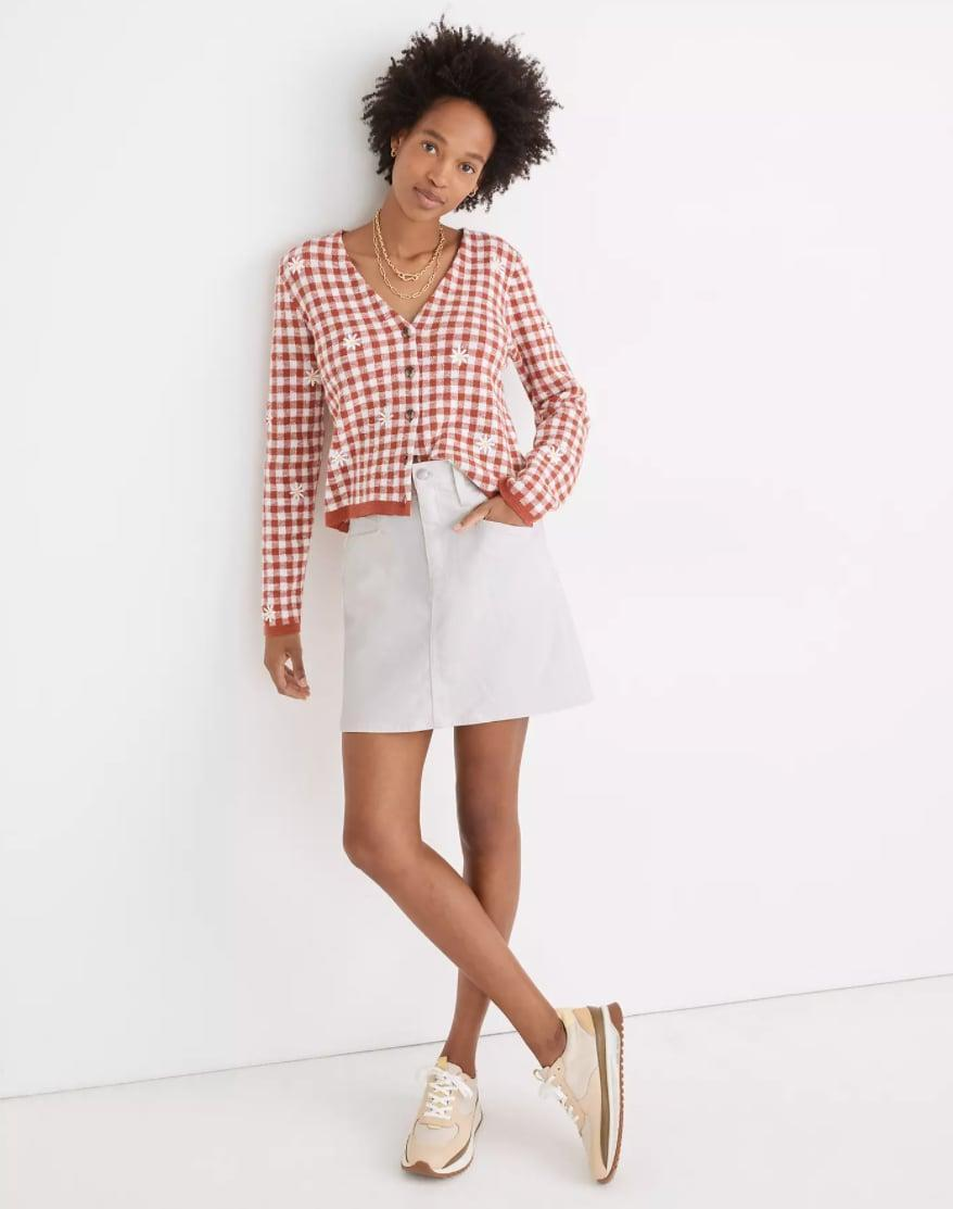 <p>You can't go wrong owning the <span>Madewell Heritage Stretch Denim Straight Mini Skirt</span> ($80).</p>