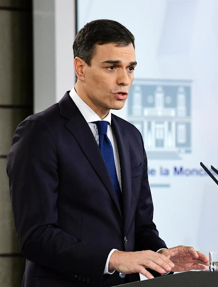 Prime Minister Pedro Sanchez has made the question of what do with Franco's remains a priority of his minority government (AFP Photo/JAVIER SORIANO)