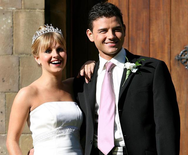 Ryan Thomas and Tina O'Brien played marrie couple Sarah and Jason Grimshaw on 'Corrie' and dated from 2003 to 2009. (PA)