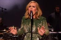 """<p>Look forward to this special, holiday-like look from Jenny Packham on November 20 when a special airs on the BBC in celebration of her new album. """"It was that thing of, do I or don't I want to go back to my music,"""" <a href=""""https://www.yahoo.com/style/adele-dresses-just-like-the-duchess-for-her-bbc-162804858.html"""" data-ylk=""""slk:she said;outcm:mb_qualified_link;_E:mb_qualified_link;ct:story;"""" class=""""link rapid-noclick-resp yahoo-link"""">she said</a>. """"Obviously I do, and I just wanted to make sure that everything was in place for me to do it so I could do it properly. I can't do anything else, this is all that I like doing.""""</p>"""