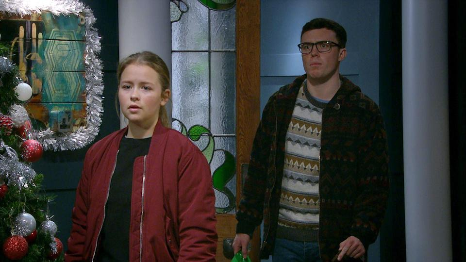 <p>She retaliates by telling Vinny about Paul's most recent gambling.</p>