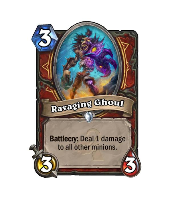 <p>Finally, another quality 3-drop for Warriors. (Can you sense the sarcasm?) Whether you're running the Control or Patron varieties of the armored guy, this Ghoul will likely find a place. Oh man, just think about the Patron procs.</p>