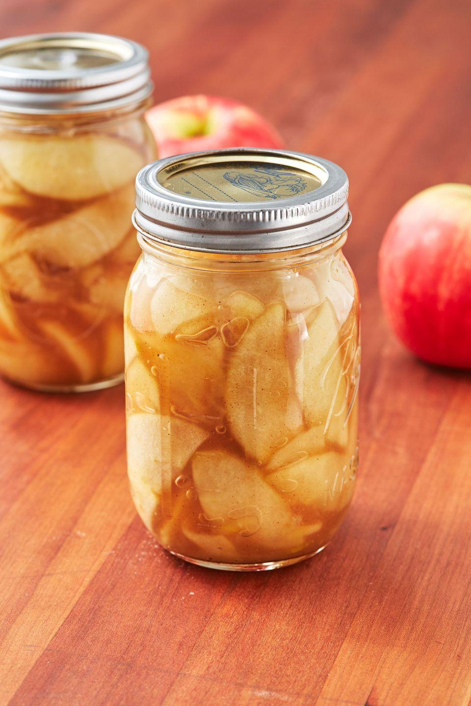 "<p>The MVP of apple pie is obviously the filling. </p><p>Get the recipe from <a href=""https://www.delish.com/cooking/recipe-ideas/a28107994/homemade-apple-pie-filling-recipe/"" rel=""nofollow noopener"" target=""_blank"" data-ylk=""slk:Delish"" class=""link rapid-noclick-resp"">Delish</a>. </p>"