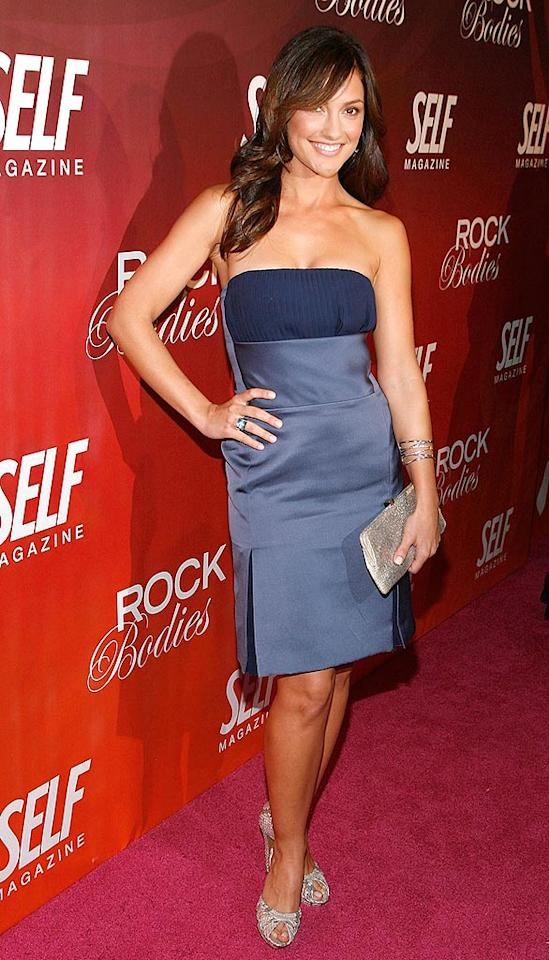 """We're not wild about Minka Kelly's two-tone blue dress, but the """"Friday Night Lights"""" stunner is working it. Joe Kohen/<a href=""""http://www.wireimage.com"""" target=""""new"""">WireImage.com</a> - June 1, 2008"""